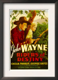 Riders of Destiny, John Wayne, Cecilia Parker, 1933 Posters