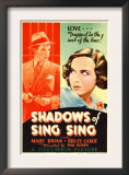 Shadows of Sing Sing, Bruce Cabot, Mary Brian on Midget Window Card, 1933 Posters