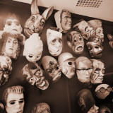 Group of Halloween Masks on Display Photographic Print by H. Armstrong Roberts