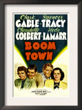 Boom Town, Claudette Colbert, Clark Gable, Spencer Tracy, Hedy Lamrr, 1940 Posters