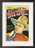 Hittin' the Trail, Tex Ritter, 1937 Poster