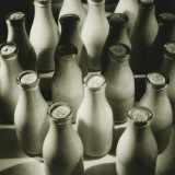 Milk Bottles, Elevated View Photographic Print by George Marks