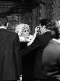 Elizabeth Taylor and Richard Burton  at Tv Studios Rehearsing, February 1963 Photographic Print
