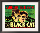 The Black Cat, Boris Karloff, Bela Lugosi, 1934 Prints