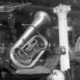 Euphonium on Window Display Photographic Print by George Marks