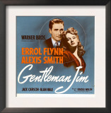 Gentleman Jim, Errol Flynn, Alexis Smith on Window Card, 1942 Prints