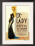 Ex-Lady, Bette Davis on Midget Window Card, 1933 Prints