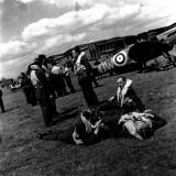 Spitfire Pilots Photographic Print