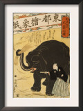 Imported Elephant Prints by Yoshiiku Ochiai