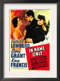 In Name Only, Kay Francis, Cary Grant, Carole Lombard on Window Card, 1939 Art