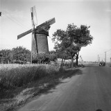 Country Road and Traditional Windmill Photographic Print by George Marks