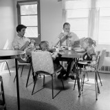 Family of Five Eating Breakfast at Kitchen Table Photographic Print by H. Armstrong Roberts