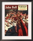 John Bull, Pancakes Day Races Magazine, UK, 1951 Pôsteres