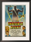 The Invisible Agent, Ilona Massey, Jon Hall, 1942 Poster