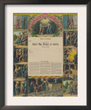United Mine-Workers of America, c.1899 Prints by  Kurz & Allison