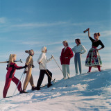 Skiing Party Photographic Print by Chaloner Woods