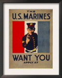 The U.S. Marines Want You, circa 1917 Art by Charles Buckles Falls