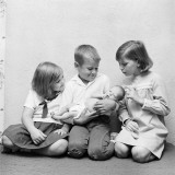 Brother Holding Baby Sister, Two Sisters Looking On Photographic Print by H. Armstrong Roberts