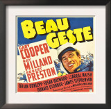 Beau Geste, Gary Cooper on Jumbo Window Card, 1939 Arte