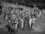 Men Dressed in Clown Suits on Street in Mummers' Parade Photographic Print by H. Armstrong Roberts