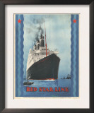 Red Star Lines, Cruise Ships, Ocean Liners, USA, 1930 Posters