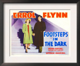 Footsteps in the Dark, Brenda Marshall, Errol Flynn, 1941 Poster