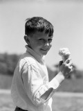Boy With Ice-Cream Cone Photographie par H. Armstrong Roberts