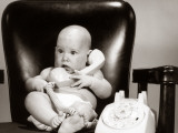 Baby on Telephone, Playing Executive Businessman Photographic Print by H. Armstrong Roberts