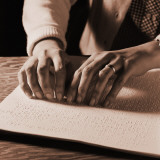 Woman's Hands Reading Braille Photographic Print by H. Armstrong Roberts