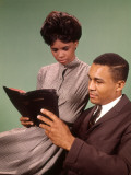 Young Couple Reading Bible, 1960s Religious Ad Photographic Print by H. Armstrong Roberts