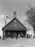 Rural One Room Schoolhouse, Group of Children at Recess Photographic Print by H. Armstrong Roberts