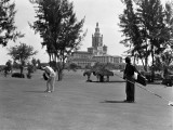 Man Playing Golf, Miami, Florida Papier Photo par H. Armstrong Roberts