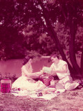 Teenage Couple Having Summer Picnic By Stream Photographic Print by H. Armstrong Roberts
