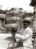 Havana Cuba Local Man Candyman Holding Three Tier Photographie par H. Armstrong Roberts