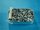 Crowd of Men and Women Packed Inside Open Sardine Tin Reproduction photographique par H. Armstrong Roberts