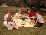 Family Picnic Photographic Print by H. Armstrong Roberts