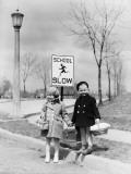Walking To School Fotografie-Druck von H. Armstrong Roberts