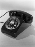 Rotary Dial Black Telephone, For Communication Fotografisk tryk af H. Armstrong Roberts