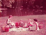 Family Having Picnic Photographic Print by H. Armstrong Roberts