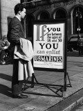 Man Reading Recruitment Poster Photographic Print by H. Armstrong Roberts