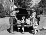 Family Packing Car For Picnic Photographic Print by H. Armstrong Roberts