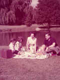 Family Having Picnic By Lake Photographic Print by H. Armstrong Roberts