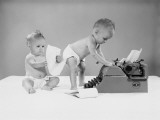 Baby Writers Photographic Print by H. Armstrong Roberts