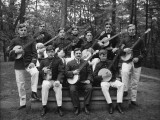 Army String Band, Men Posing With Banjoes and Guitars Photographic Print by H. Armstrong Roberts