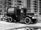 Concrete Truck on Site of Construction Photographic Print by George Marks