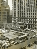 Busy Street and Exterior of Plaza Hotel, New York City Photographic Print by George Marks