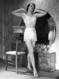 Woman in Brassiere and Panties at Her Mirror Photographic Print by George Marks