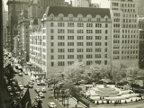 Busy Street at Plaza Hotel, New York City, (Elevated View) Photographic Print by George Marks