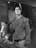 Man in Welding Gear in WWII Defense Plant Photographic Print by George Marks