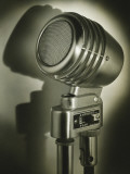 Vintage Amplifier in Spotlight, Close-Up Photographic Print by George Marks